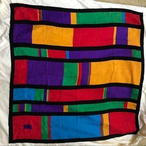 *RARE* YSL Mondrian Print Jacquard Silk Scarf
